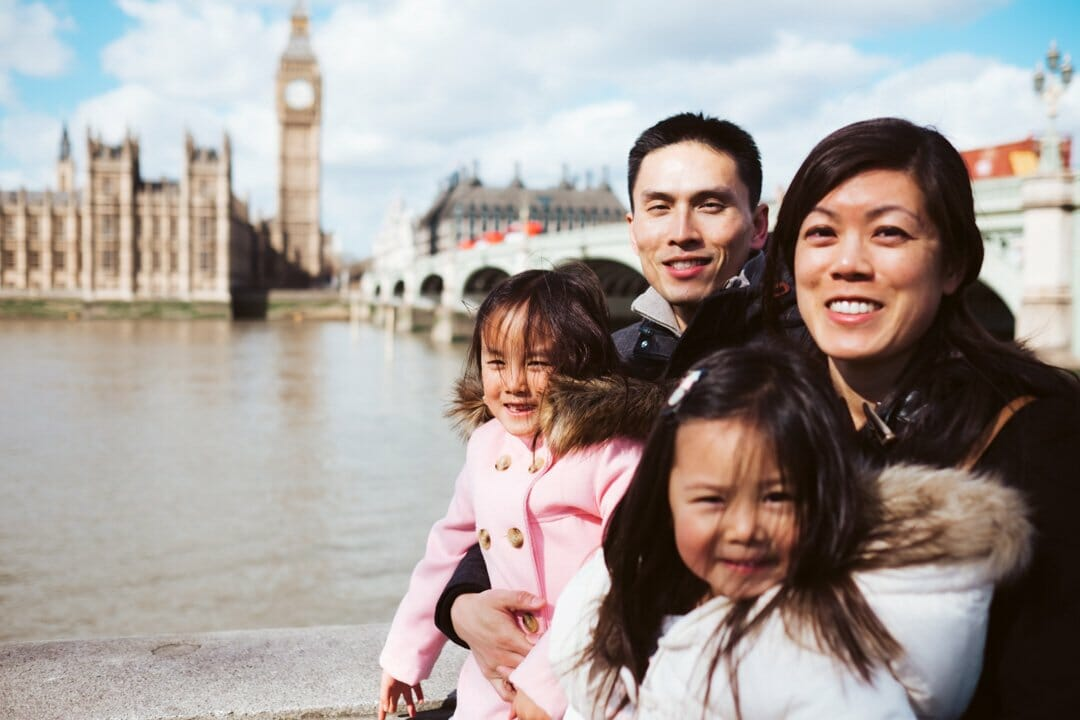 family photography in London by Big Ben